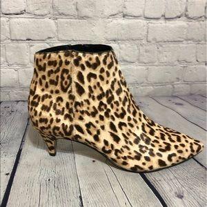 Sam Edelman Kinsey sand leopard ankle booties